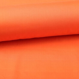Tissu popeline coton unie orange carrot