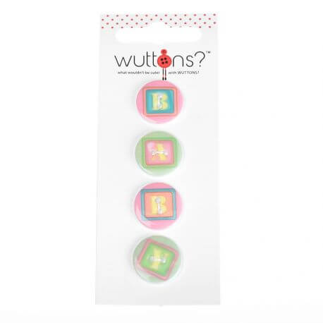 Assortiment 4 boutons Baby