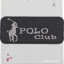 Ecusson polo club uni - Noir