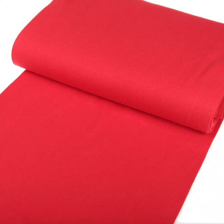 Tissu bord-côte tubulaire maille jersey  - Rouge