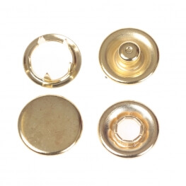 Boutons pressions métal rond 11,5mm - Or
