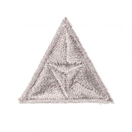 Ecusson mouche triangle - Gris