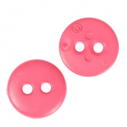 Bouton rond mat classic rose - 12 & 15 mm