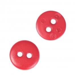 Bouton rond mat classic rouge - 12 & 15 mm