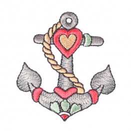 Ecusson ancre coeur tattoo vintage
