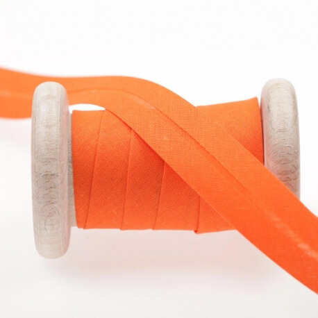 Biais uni au mètre - Orange carrot