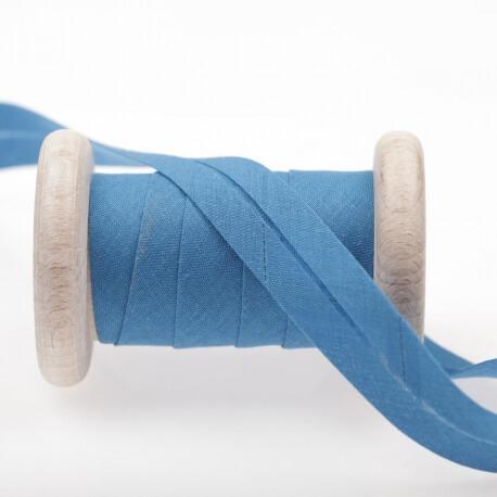 Biais uni au mètre - Bleu french blue