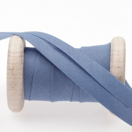 Biais uni au mètre - Bleu coronet blue