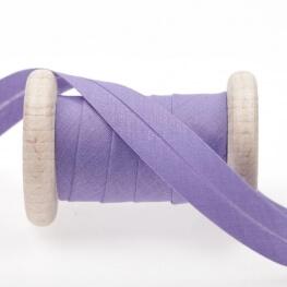 Biais uni au mètre - Violet dusted