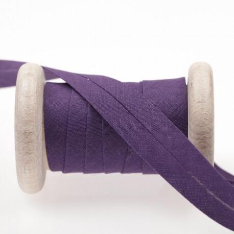 Biais uni au mètre - Violet petunia