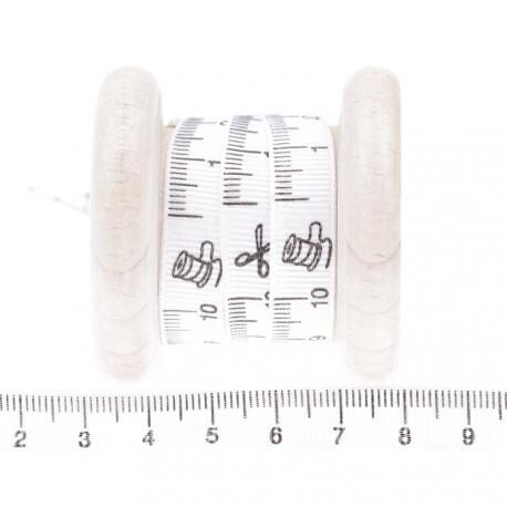 Ruban motif mètre au mètre - blanc
