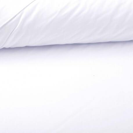 Tissu popeline coton unie blanc