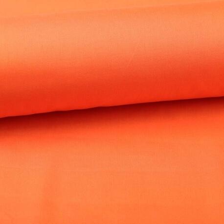 Tissu popeline coton unie orange carrot