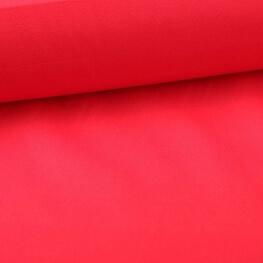 Tissu popeline coton unie rouge tomato