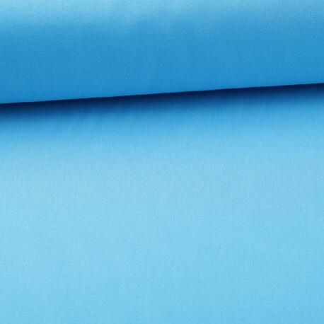 Tissu popeline coton unie bleu turquoise