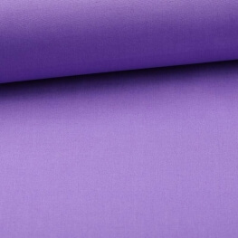 Tissu popeline coton unie violet lavande