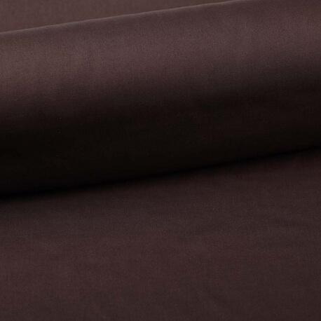 Tissu popeline coton unie marron