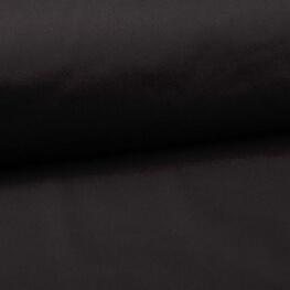 Tissu popeline coton unie noir