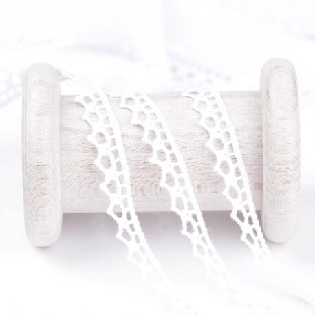 Dentelle solo coton au mètre - Blanc