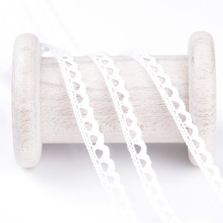 Dentelle mini coton au mètre - Blanc