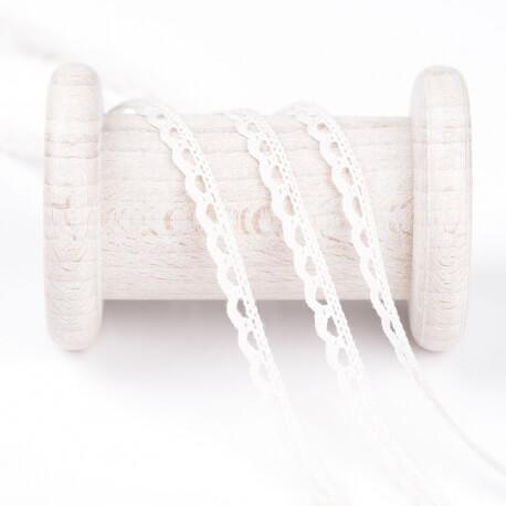 Dentelle mini coton au mètre - Ecru