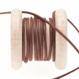 Lacet aspect cuir au mètre - Marron fudgesickle
