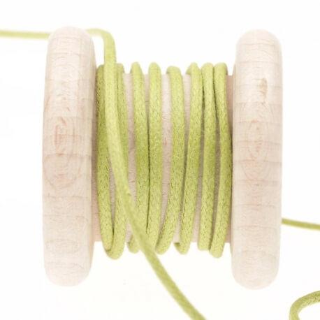 Lacet aspect cuir au mètre - Vert leaf