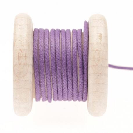 Lacet aspect cuir au mètre - Violet heart