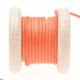 Lacet aspect cuir au mètre - Orange nasturtium