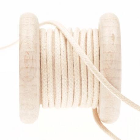 Lacet aspect cuir au mètre - Beige antique