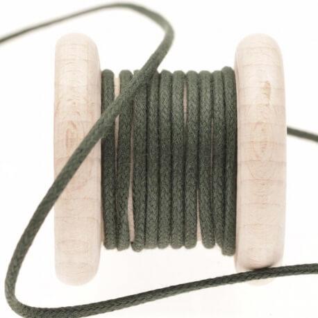 Lacet aspect cuir au mètre - Vert pineneedle