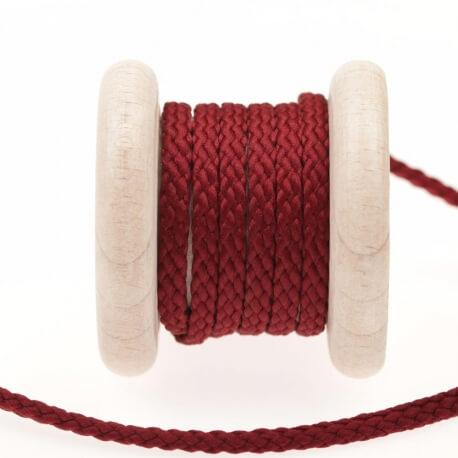 Cordon uni au mètre - Rouge cabernet
