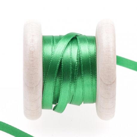 Ruban satin vert fern green
