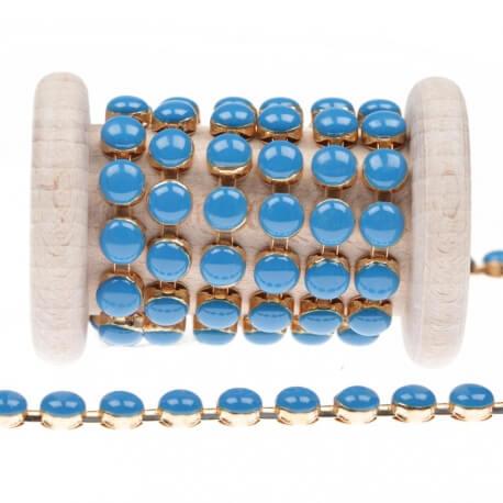 Chaîne perle  - Bleu