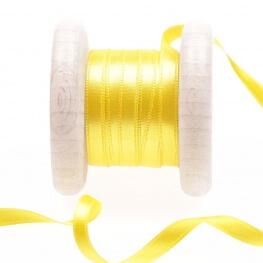 Ruban satin jaune vibrant yellow