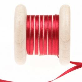 Ruban fin satin au mètre - Rouge jester - Largeur 3mm