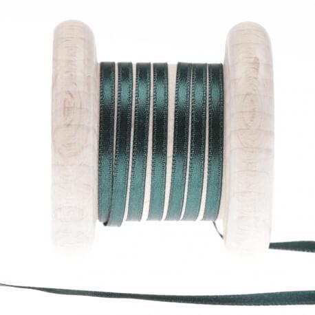 Ruban fin satin au mètre - Vert galapagos - Largeur 3mm