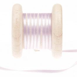 Ruban fin satin au mètre - Violet pastel lilac - Largeur 3mm