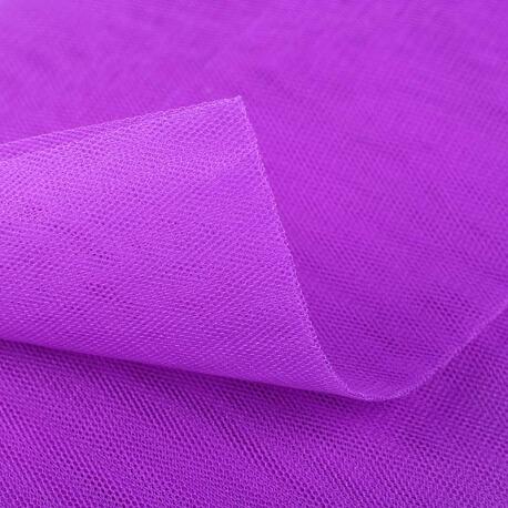 Tissu tulle violet tillandsia au mètre