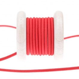 Elastique rond rayonne au mètre - Rouge tomato 2,5 mm