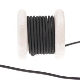 Elastique rond rayonne au mètre - Noir 2,5 mm