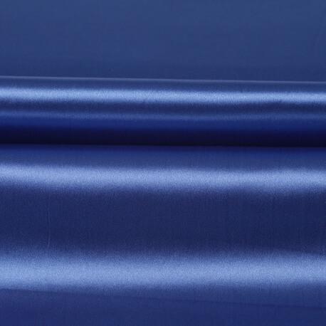 Tissu satin uni - bleu classic