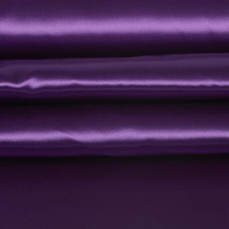 Tissu satin uni - violet