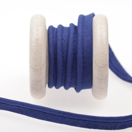 Ruban passepoil au mètre - Bleu sodalite