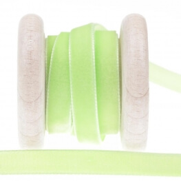 Ruban velours 9mm au mètre - Vert bright