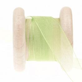 Ruban mousseline au mètre - Vert