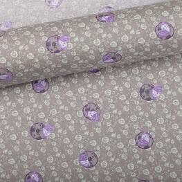 Tissu cocon violet