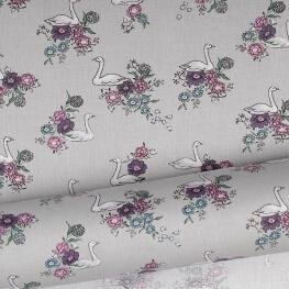 Tissu cygne rose shadow