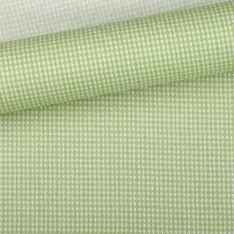 Tissu pied de poule vert