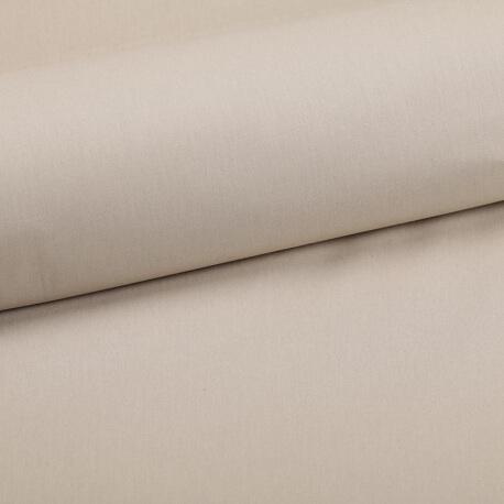 Tissu coton uni beige galet